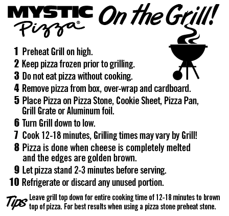 Mystic Pizza Grilling Instructions Nutrition Facts